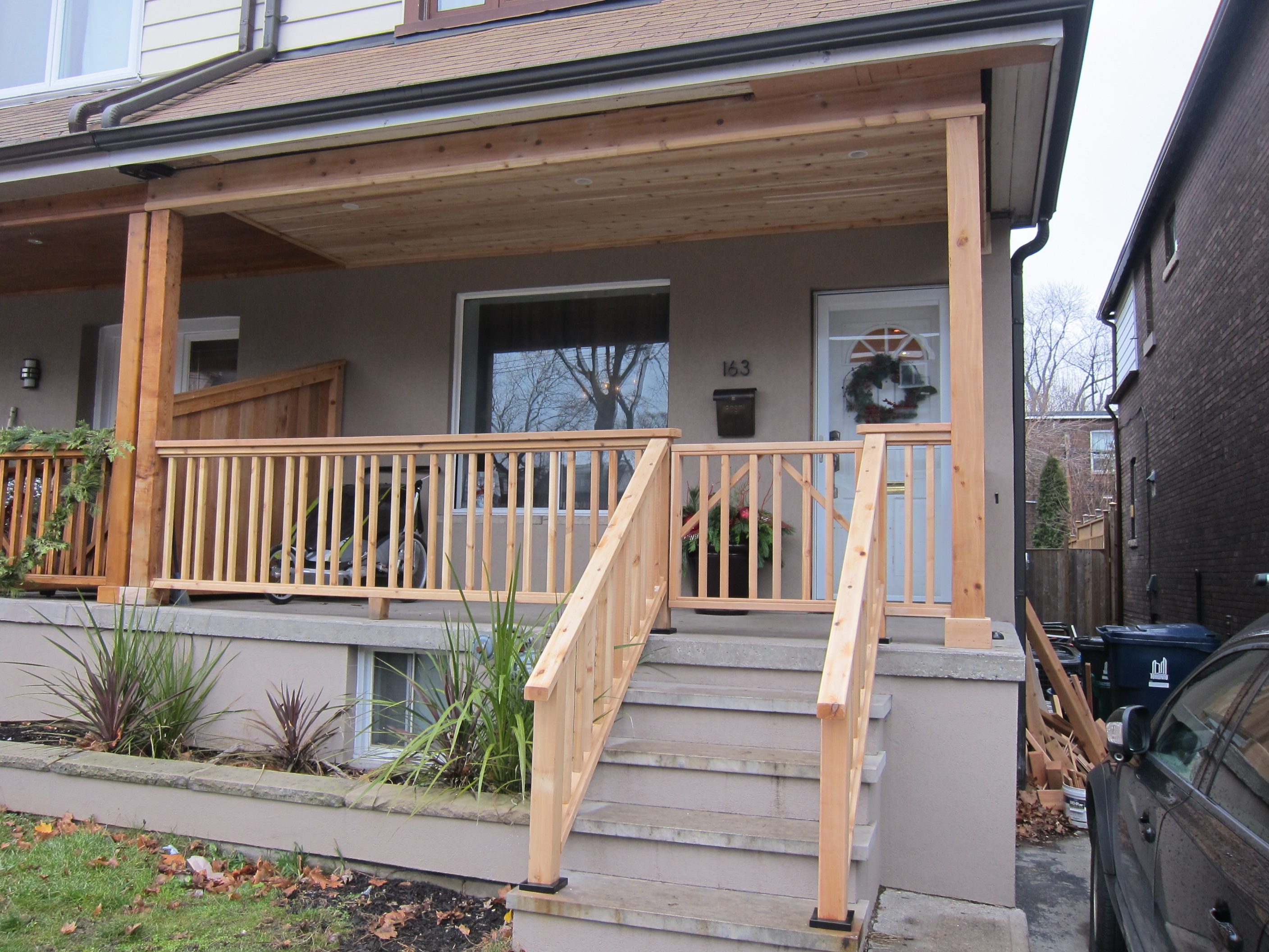 Wrap Around Deck Designs 2nd Job Gillard Cedar Porch Bbg Carpentry Inc